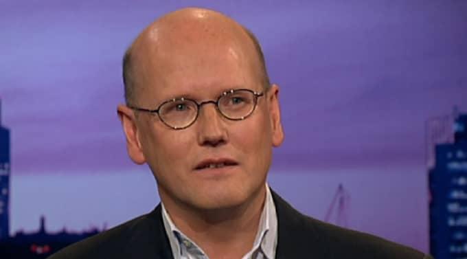 "Tjomas Östros i SVT:s ""Agenda"". Foto: SVT"