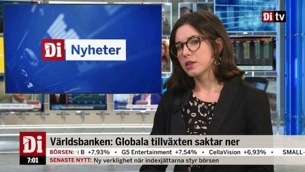 Morgonkoll: Globala tillväxten saktar ner