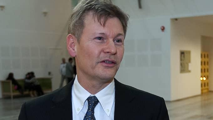 Sven Å Christianson har hoppat av onsdagskvällens debatt i Aktuellt. Foto: ROGER VIKSTRÖM