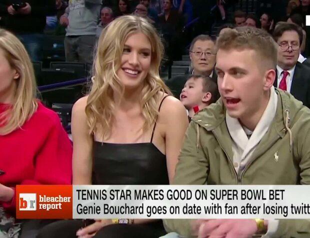 Infriade dejtlöftet – Bouchard gick på basket med kavaljeren