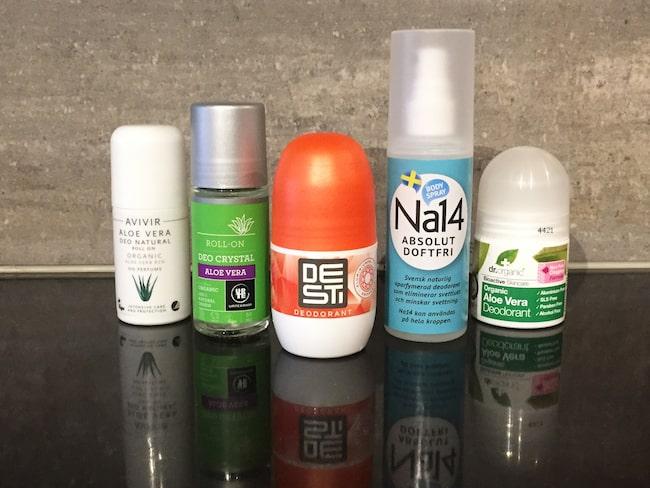 deodorant utan aluminium