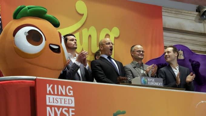 De blev miljardärer på spelet Candy crush som de sålde i höstas. Foto: Richard Drew