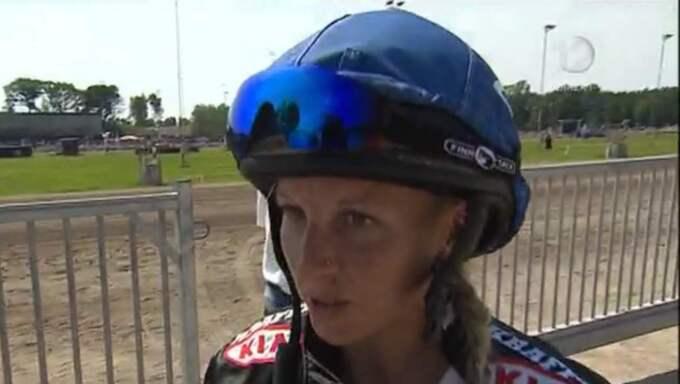 Malin Andersson i intervjun efter olyckan.