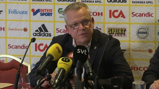 """Janne Andersson bekräftar skadan: """"Synd om honom"""""""