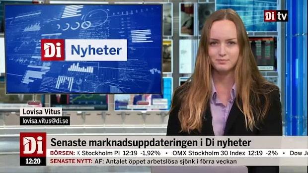 Di Nyheter: Nedgången tilltar på börsen - endast ett bolag står emot