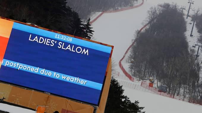 Damernas slalom blev uppskjuten Foto: MICHAEL PROBST / AP TT NYHETSBYRÅN