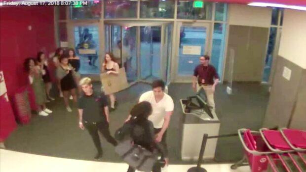 Våldsam tjuv löpte amok i butik