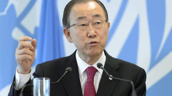 Ban Ki-moon. Foto: Martial Trezzini / AP TT NYHETSBYRÅN
