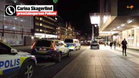 Man attackerad – mitt i Stockholms julhandel