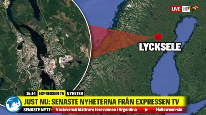 Olyckan skedde norr om Lycksele. Foto: Expressen TV