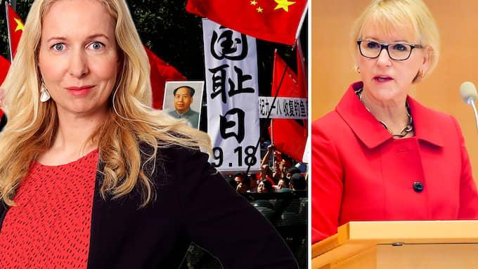 Risken är stor att självcensuren breder ut sig inför Kinas maktspråk. skriver Anna Dahlberg.