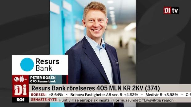 """Resurs Banks CFO: """"Bra resultat och hög lönsamhet"""""""