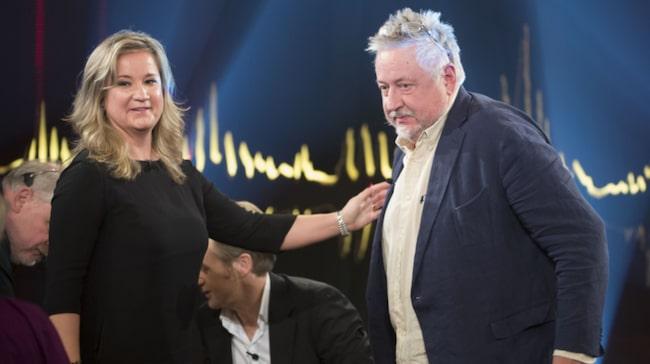 """Leif GW Persson hyllade sin dotters författarskap i programmet """"Skavlan""""."""