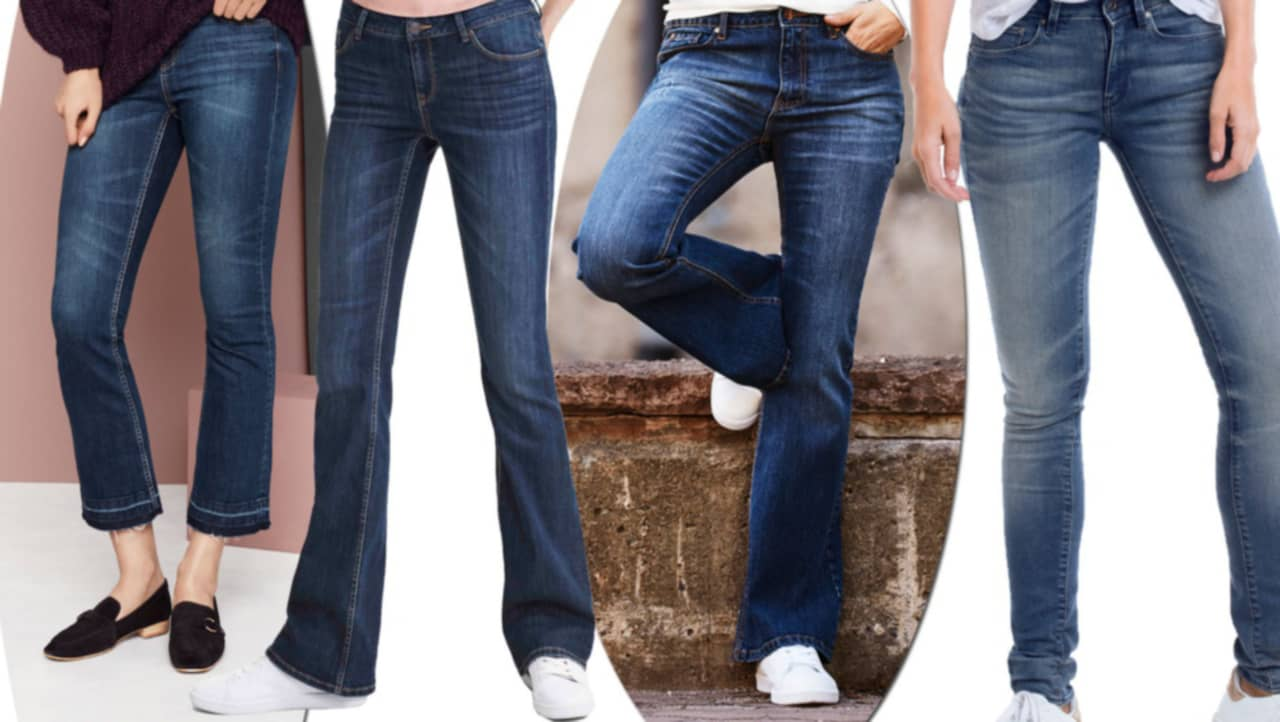 snygga jeans i större storlekar