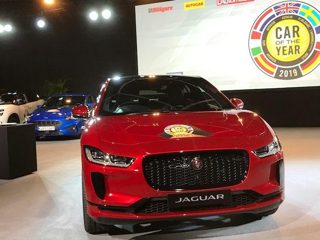 Jaguar I-Pace är vinnaren av Car of the Year, eller Årets bil, 2019.