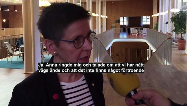 """Ann-Sofie Hermansson (S) om avgångskravet: """"Det är en maktkamp"""""""