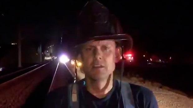 """Brandmannen: """"15 ambulanser är på plats"""""""