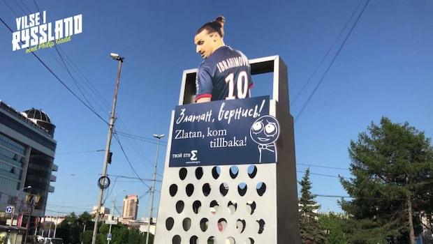 Här dyker Zlatan upp – på ett rivjärn