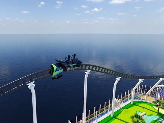 Ägaren, Carnival Cruise, utlovar en världsnyhet: världens första flytande bergochdalbana.
