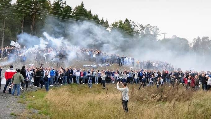 Blåvitt-fansen mobiliserar en jättekaravan till matchen mot Elfsborg på måndag. Foto: FREDRIK AREMYR