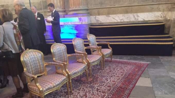 Kronprinsessan Victorias stol är borttagen – hon får inte delta i Global Child Forum. Foto: Johan T Lindwall