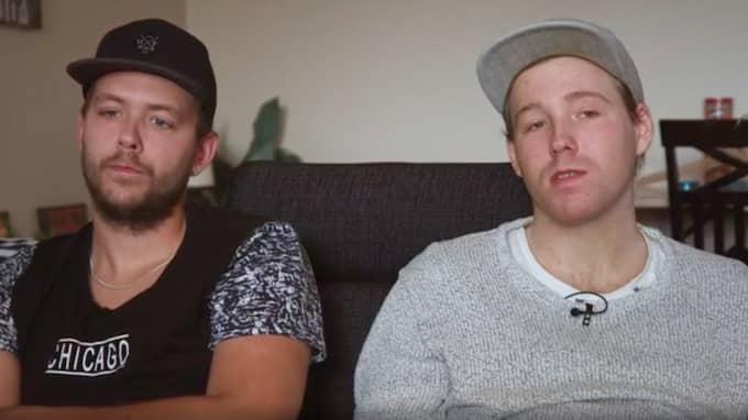Christian (t.v) med sin lillebror Robin (t.h). Foto: SVT/Dokument Inifrån