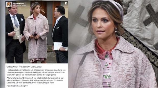 Prinsessan Madeleine får kritik – för kappan