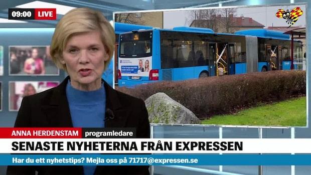 Linjebuss beskjuten i Borås