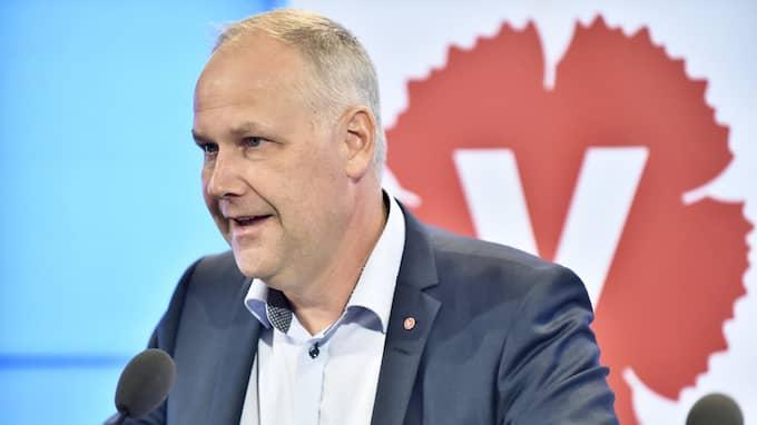Vänsterpartiets partiledare Jonas Sjöstedt. Foto: ALEXANDER LARSSON VIERTH/TT / TT NYHETSBYRÅN