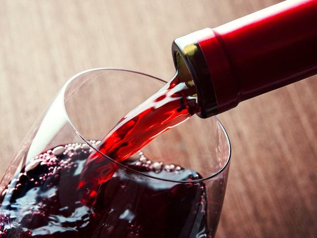 dålig i magen av rödvin