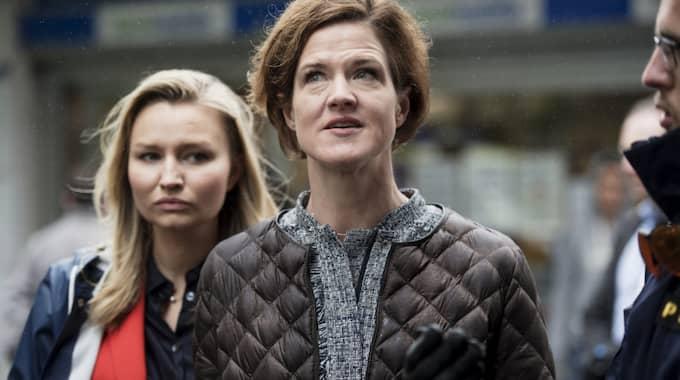 Anna Kinberg Batras Moderaterna och Ebba Busch Thors KD kräver att försvarsberedningen kallas in. Foto: Olle Sporrong