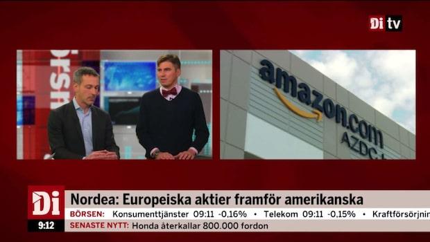"""Nordea: """"Europeiska aktier framför amerikanska"""""""
