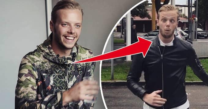 """Carl Déman, 24, är tillbaka med en ny karaktär: """"Fotbollshuliganen"""". Foto: PRIVAT"""