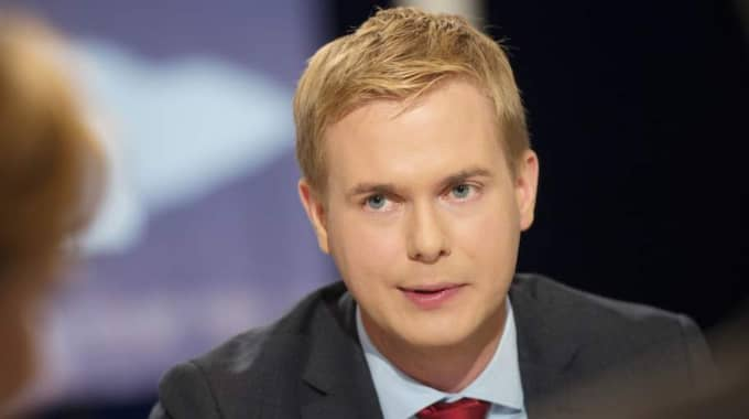 MP:s språkrör Gustaf Fridolin. Foto: Izabelle Nordfjell