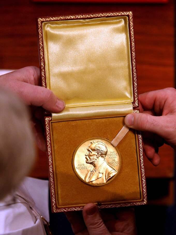 Den åtråvärda nobelmedaljen. Foto: KAY NIETFELD / EPA DPA