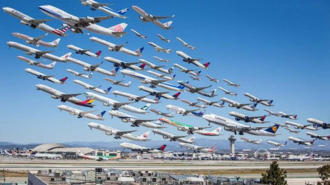 """– Man kan identifiera sig med känslan man får när man tittar på bilden att """"wow! händer allt det där på en enda flygplats?"""", säger fotografen Michael Kelley till Allt om Resor."""