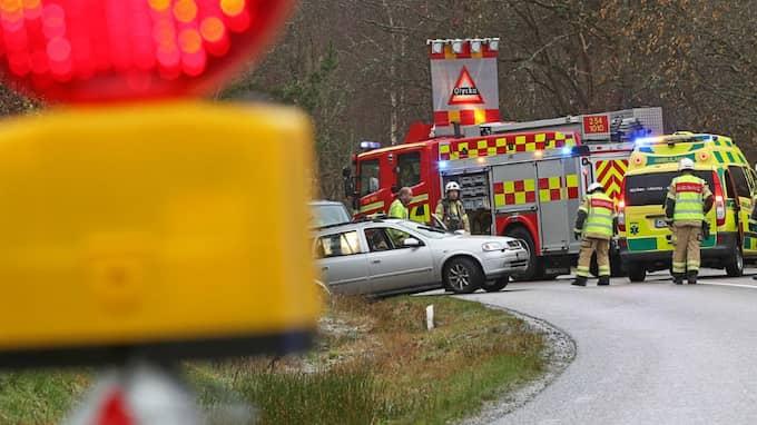 En singelolycka inträffade i Uddevallaområdet vid halv niotiden på tisdagsmorgonen. Foto: Robert Betzehag
