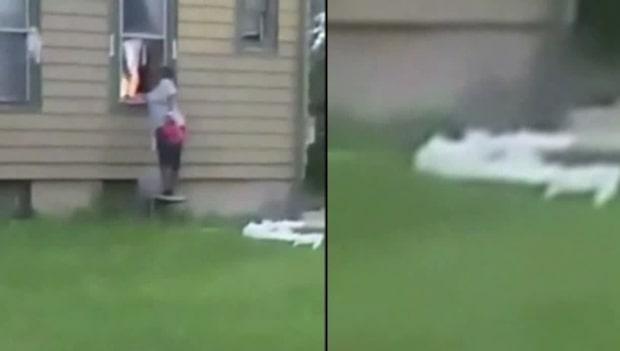 Kvinnan tänder eld på ett hus - 72-årig man dog