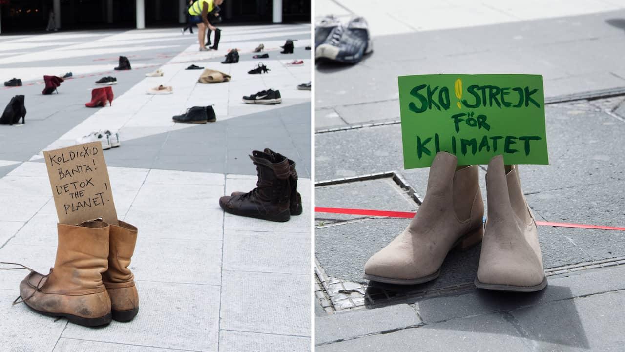 Därför lades skor ut på 70-tal platser i landet