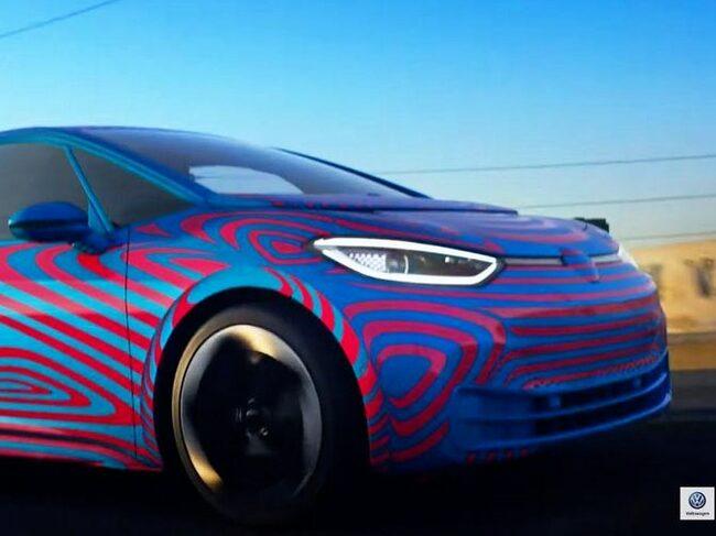Den läckta bilden på kommande elbilen Volkswagen ID.