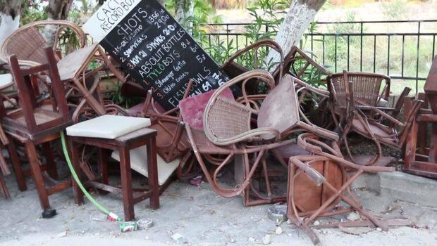 """Två döda i jordbävningen utanför Kos - """"hela byggnaden började rasa"""""""