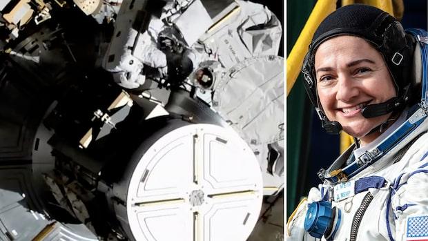 Svenska Jessica genomförde första kvinnliga rymdpromenaden