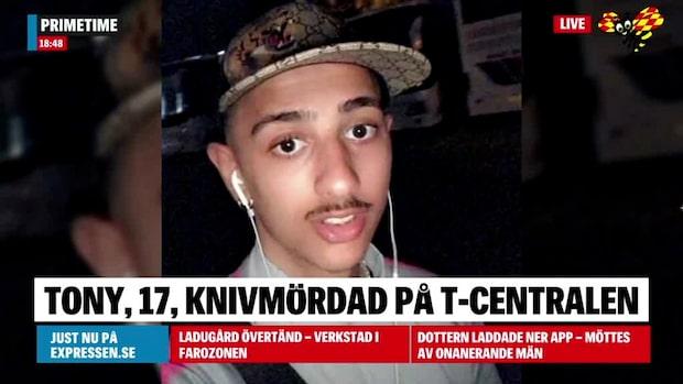 Tony, 17, knivmördad på perrongen på T-centralen