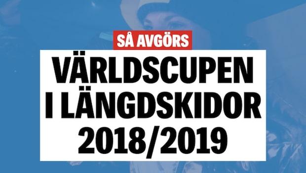 Så avgörs världscupen i längdskidor 2018/2019