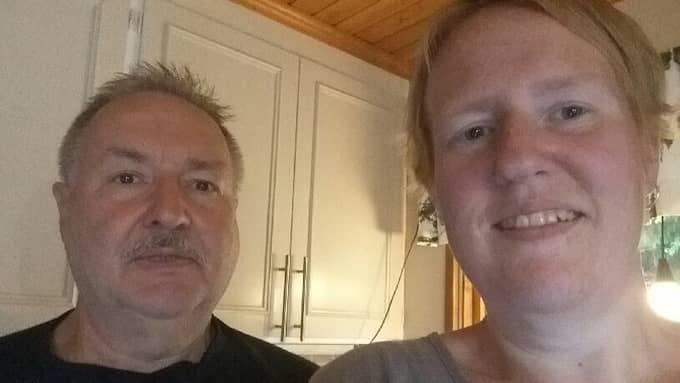 Niclas pappa Sven-Erik Hansen och hans syster Susanna Hansen. Foto: Privat