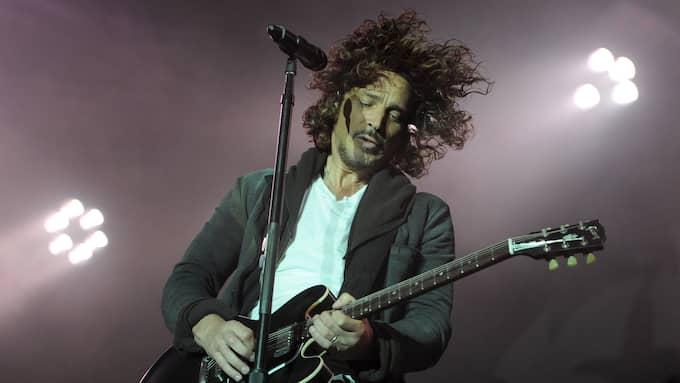 Chris Cornell uppträder med sitt band Soundgarden 2012. Foto: BRITTA PEDERSEN
