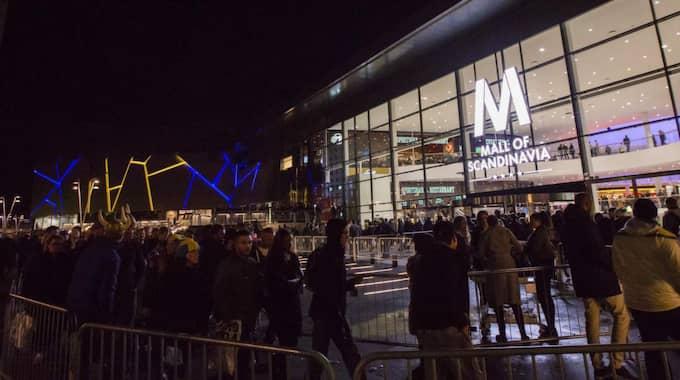 Invigningen av nya supergallerian Mall of Scandinavia i Solna var kaosartad. Foto: Andreas Sandström