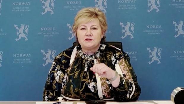 Erna Solbergs vädjan: Res inte till Norge