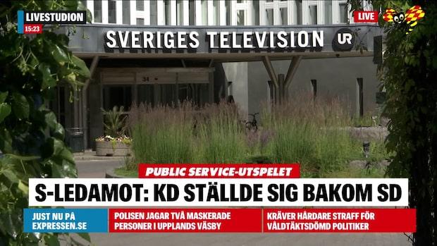 """S-ledamot i kulturutskottet: """"KD ställde sig bakom SD"""""""