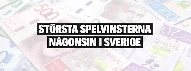 Största spelvinsterna någonsin i Sverige